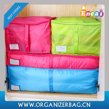 Encai Fashion Colorful Quilt Storage Bags High Quality Clothing Storage Pouch With Window