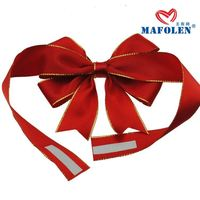 Luxury gift package accessories christmas satin ribbon pre-made bows