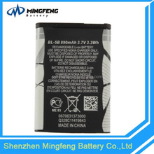 High Quality BL-5B mobile phone battery For Nokia 3220/3230/5070/5140/5140i/5200
