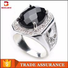 2015 newest fashion special silver jewelry gothic skull ring