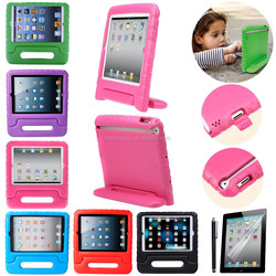 Colorful Kids Soft Foam Stand Handle Protective Case Cover For IPad Mini 4