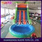 Piscina de slides para venda, portátil de água slide, jungle outdoor escorrega inflável