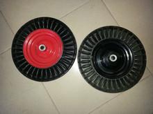 barrows wheel 4.00-8 rubber solid tyre , solid rubber wheel