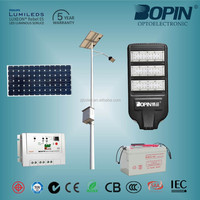 120w solar ip65 solar street light long working time for outdoor fixture high efficient energy saving