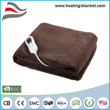 Tech Washable Full-circuit Overheating Protection Auto off 120W Soft Plush Electric Blanket King