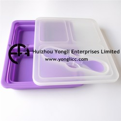 2015 Food Grade Take Away Silicone Collapsible ECO Sushi Container