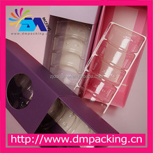 cardboard Macaron packing box with plastic insert