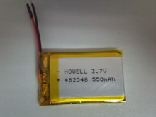 li-polymer battery 482548 3.7v with capacity 550mAh