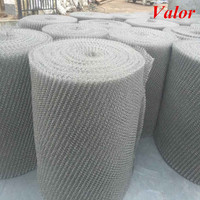 2015 Hot sale stainless steel knitted wire mesh ribbon with ISO9001