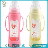 cheap china OEM good selling on alibaba BPA FREE glass baby feeding bottle cute babies feeding bottle manufacturer