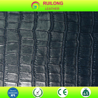 pu synthetic leather imitation crocodile leather for shoes bags waterproof embossed leather