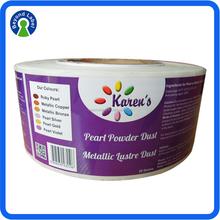 Waterproof Custom Sticker Printing Labels, Vinyl Adhesive Printing Cosmetic Jar Labels