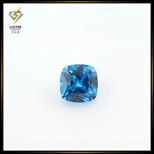 Hot salse 5*5mm square cut cubic zirconia aquamarine stone price