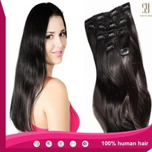 2015 Hot selling!! Alibaba express lowest price hair clip human hair extension