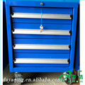 Conveniente 4 azul de almacenamiento de metal tool garaje carrito y gabinete de herramienta