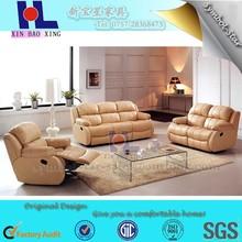 Luury home furniture, good used 3 seater recliner sofa set living room sofa design