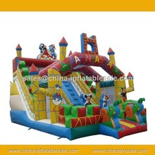 China slide with unique design/kids happy castle with slide