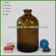 100ml Molded Injection Vials Antibiotics Ring Finish USP Type 2 3