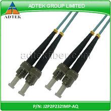ST to ST 50/125 OM4 duplex 3.0 PVC 2meter Aqua fiber optic Kabel