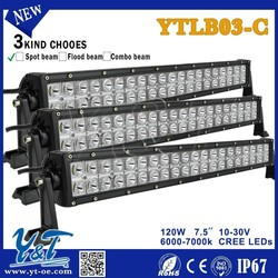Y&T2015 New Type 120W 7.5inch 4x4 off road led light bar for SUV,truck,offroad