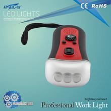 Super bright industrial protable rechargeable led flashlight radio adjust light