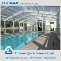 Low cost steel swimming pool enclosures metal roofing