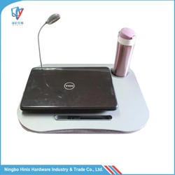 Portable laptop table with led light