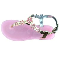 New stylish flat sandals for girl children jelly sandals kids fancy sandals