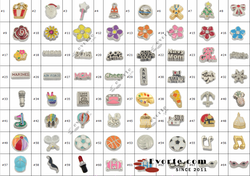 fashion zinc alloy metal sport ball baseball/flower/marines/ lockets charms