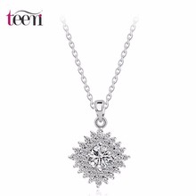 Teemi Jewerly Luxo 2015 Engagement Noble Colar de cobre Pave Cubic Zircon Micro