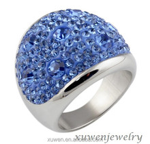 wholesale Czech crystal 316l surgical stainless steel ring