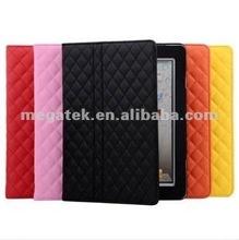 Tablet case cover diamond sheep skin pu leather case for ipad 2 3 4 air mini