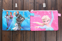 Anna And Elsa Frozen Bag Fashion Stationary Pencil Cases