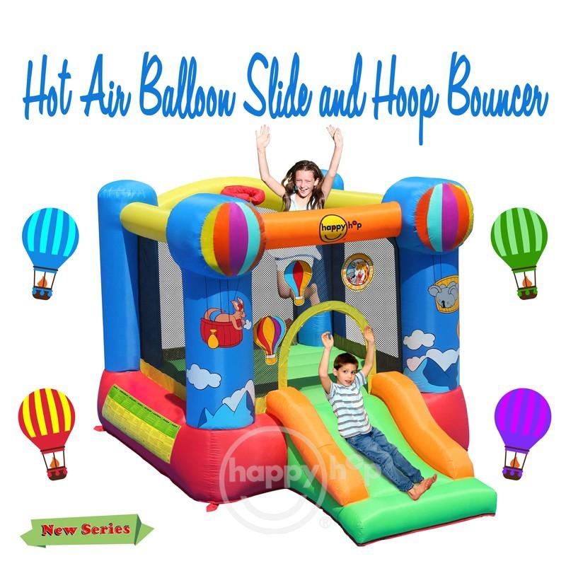 Happy hop inflatable bouncer 9070n hot air balloon slide for Happy hop inflatable water slide