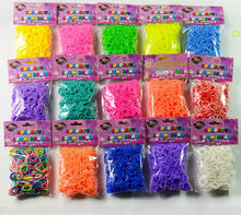 2014 Cheap colorful rainbow loom bands rubber 200/300/600pcs