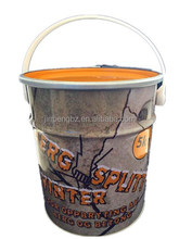5L mental drums with plastic handle