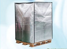 Foil Bubble Thermal Insulation and Reflective Radiant Barrier, for Pallet Cover and Container Lining