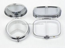 SQUARE ROUND OVAL pill storage cases with mirror