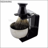 Luxury 3 in 1 triple blade shaving set with bowl