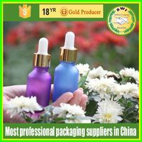 packaging cosmetics 50ml clear vials glass dropper bottle with black or white childproof &tamper cap with matt surface