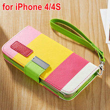 Hot sales mobile phone bag for Iphone 4S 4, fashionable designer cell phone bag for I phone series
