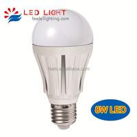 270 degree aluminum 8 watt 10W 12W led bulb 60w led light equivalent