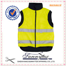 SUNNYTEX Reversible High quality 100% polyester reflective safety vest