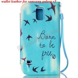 PU Leather + TPU Case for Samsung Galaxy S5 i9600 OEM Phone Cover Many Designs in stocks