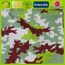 228T Camouflage Nylon Taslon/Taslan Fabric/PU Coating Camouflage Taslon For Tent