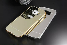 S6 S6 Edge Case Mirror Metal Aluminum+Clear PC Phone Case For Samsung Galaxy S6 S6 Edge