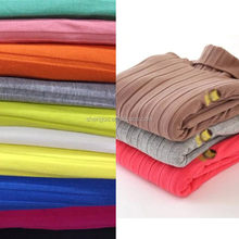 wholesale stretch solid 100 combed cotton rib knit fabric for underwear legging sweater