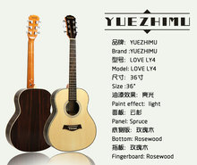 """36"""" High Grade Acoustic Guitar Spruce Panel Light Guitar Rosewood fully handmade with solid wood guitar"""