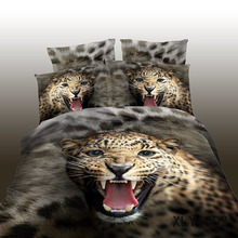 Animal design hot sale leopard printed 3d bed sheet set