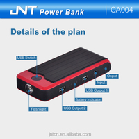 Top selling 15V/11000mAh long lasting Kit Car Jump Starter power bank charger for Vehicle/PC/Mobile Phone/Pad/PSP CA004
